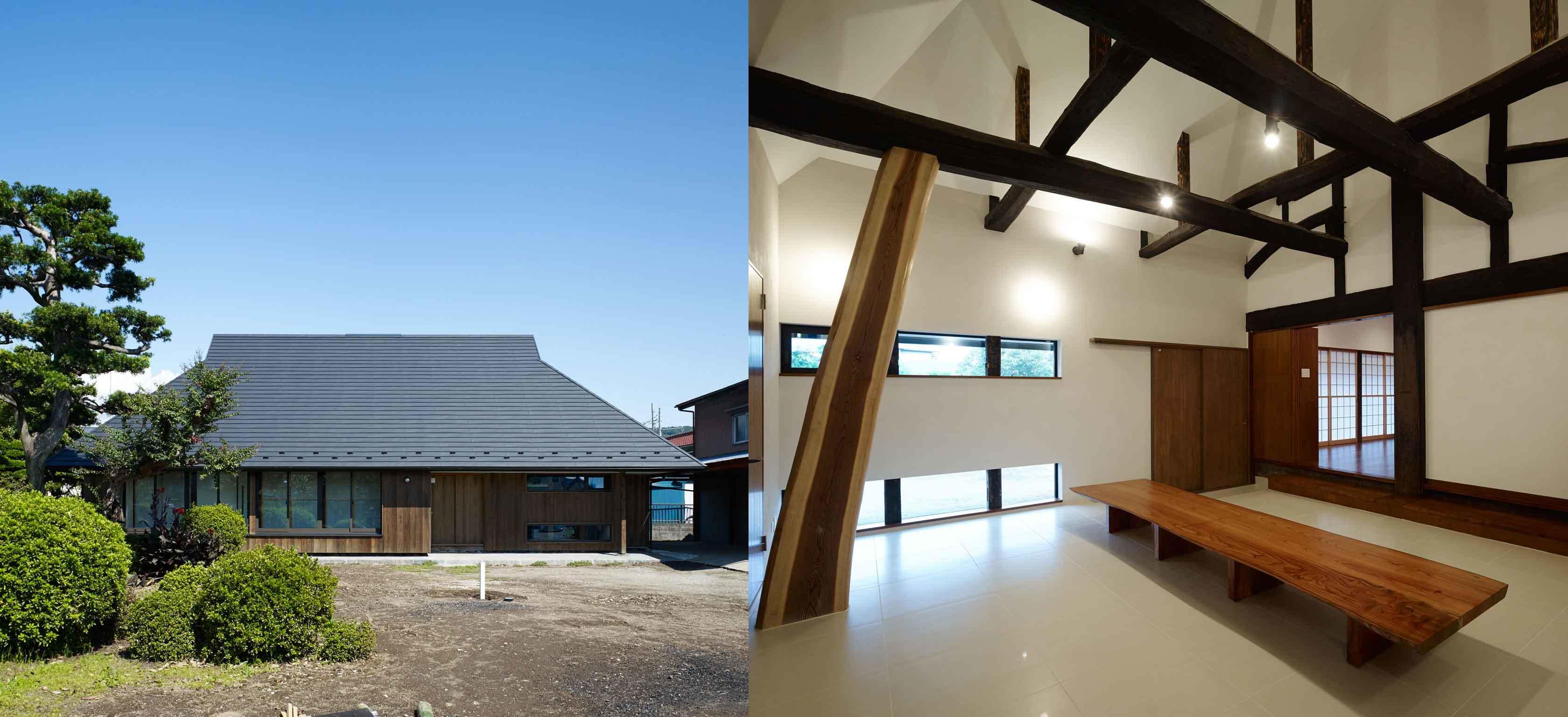 弊社の代表作の一つ、古民家再生設計です。今年度は隣接する建物の設計をしています。
