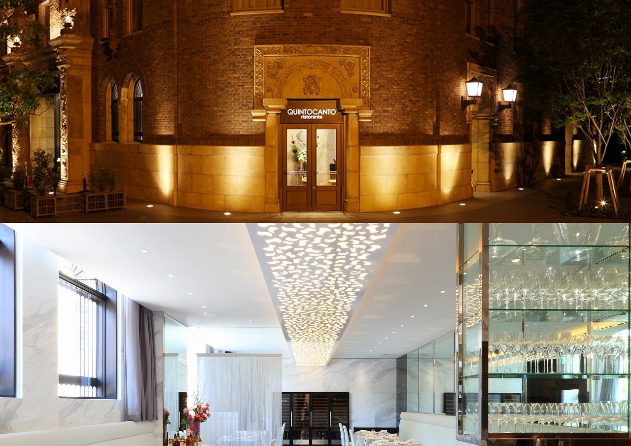 インテリアデザイン:大正時代建造ビルの再開発の中にあるイタリアン・レストラン。